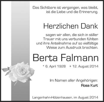Zur Gedenkseite von Berta
