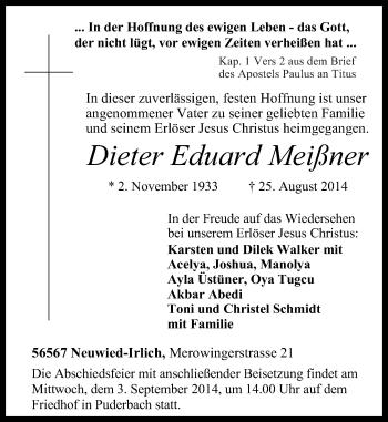 Zur Gedenkseite von Dieter Eduard