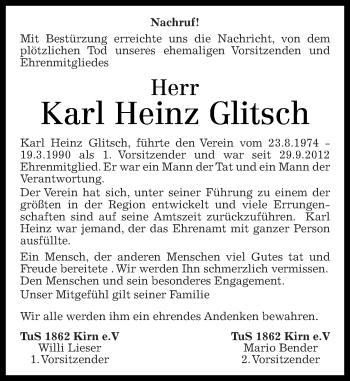 Zur Gedenkseite von Karl Heinz