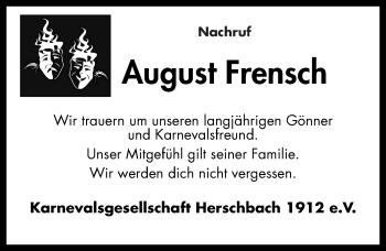 Zur Gedenkseite von August