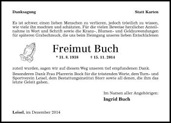 Zur Gedenkseite von Freimut