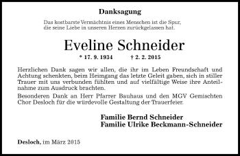 Zur Gedenkseite von Eveline