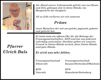 Zur Gedenkseite von Ulrich
